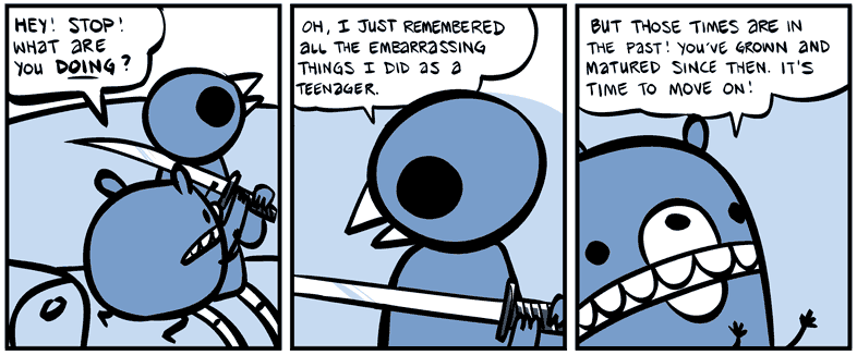 The painful memories of youth - via Nedroid